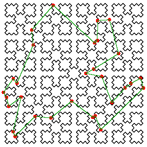 Using A Sierpinski Curve to Solve Traveling Salesman Problem